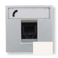 N2217.6 BL NIE Zenit Бел Розетка телефонная на 6 контактов, RJ12, 2 мод