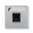 N2217.6 PL NIE Zenit Серебро Розетка телефонная на 6 контактов, RJ12, 2 мод