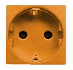 N2288 NA NIE Zenit Оранжевый Розетка с/з с защитными шторками