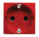 N2288 RJ NIE Zenit Красный Розетка с/з с защитными шторками