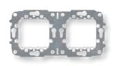 N2272.9 NIE Zenit Суппорт 2+2 мод без монтажных лапок