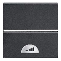 N2260.1 AN NIE Zenit Антрацит Светорегулятор нажимной 60-500W универсальный, 2 мод