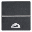 N2260 AN NIE Zenit Антрацит Светорегулятор нажимной 40-450W для л/н и г/л с обмот. тр-ром, 2 мод