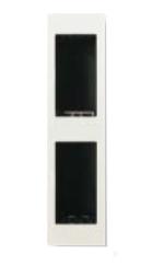 N2671.2 BL NIE Zenit Бел Цоколь для установки в мебель/перегородки на 2 х 1 модулю, вертикальный