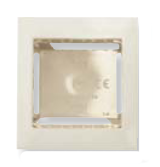 N2991.1 BL NIE Zenit Бел Цоколь для открытой установки на 1-2 модуля, с рамкой