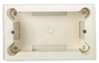 N2994 BL NIE Zenit Бел Цоколь для открытой установки на 4 модуля, без рамки