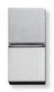 N2101.2 PL NIE Zenit Серебро Выключатель 1-клавишный 2-х полюсный 1 мод