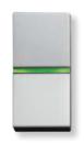 N2101.5 PL NIE Zenit Серебро Выключатель 1-клавишный с индикацией 1 мод