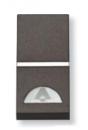 N2104.2 AN NIE Zenit Антрацит Выключатель 1-клавишный кнопочный НО-контакт с символом Освещение 1 мод
