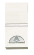 N2104.2 BL NIE Zenit Бел Выключатель 1-клавишный кнопочный НО-контакт с символом Освещение 1 мод