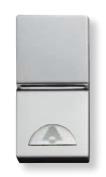N2104.2 PL NIE Zenit Серебро Выключатель 1-клавишный кнопочный НО-контакт с символом Освещение 1 мод