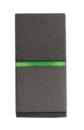 N2104.5 AN NIE Zenit Антрацит Выключатель 1-клавишный кнопочный с индикацией НО-контакт 1 мод