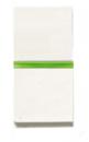N2104.5 BL NIE Zenit Бел Выключатель 1-клавишный кнопочный с индикацией НО-контакт 1 мод