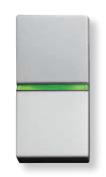 N2104.5 PL NIE Zenit Серебро Выключатель 1-клавишный кнопочный с индикацией НО-контакт 1 мод