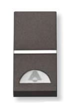N2104 AN NIE Zenit Антрацит Выключатель 1-клавишный кнопочный НО-контакт с символом Звонок 1 мод