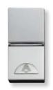 N2104.7 PL NIE Zenit Серебро Выключатель 1-клавишный кнопочный НО-контакт без символа 1 мод