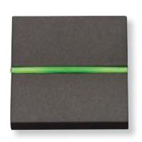 N2201.5 AN NIE Zenit Антрацит Выключатель с индикацией 2 мод
