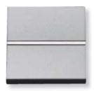 N2201 PL NIE Zenit Серебро Выключатель 1-клавишный 2 мод