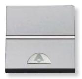 N2204.2 PL NIE Zenit Серебро Выключатель 1-клавишный кнопочный НО-контакт с символом Освещение 2 мод