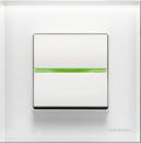 N2204.5 BL NIE Zenit Бел Выключатель 1-клавишный кнопочный с индикацией НО-контакт 2 мод