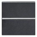 N2204.6 AN NIE Zenit Антрацит Выключатель 1-клавишный кнопочный НЗ-контакт 2 мод