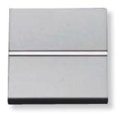 N2204.6 PL NIE Zenit Серебро Выключатель 1-клавишный кнопочный НЗ-контакт 2 мод