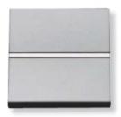 N2204.7 PL NIE Zenit Серебро Выключатель 1-клавишный кнопочный НО-контакт 2 мод