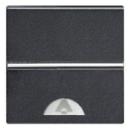 N2204 AN NIE Zenit Антрацит Выключатель 1-клавишный кнопочный НО-контакт с символом Звонок 2 мод