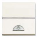 N2204 BL NIE Zenit Бел Выключатель 1-клавишный кнопочный НО-контакт с символом Звонок 2 мод