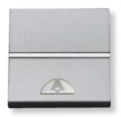 N2104 PL NIE Zenit Серебро Выключатель 1-клавишный кнопочный НО-контакт с символом Звонок 1 мод