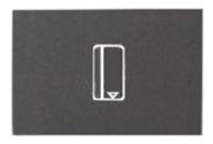 N2214.1 AN NIE Zenit Антрацит Выключатель карточный 2 мод