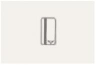 N2214.1 BL NIE Zenit Бел Выключатель карточный 2 мод