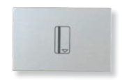 N2214.1 PL NIE Zenit Серебро Выключатель карточный 2 мод