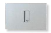 N2214.5 PL NIE Zenit Серебро Выключатель карточный с задержкой отключения (5-90 сек.) 2 мод