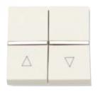 N2244.1 BL NIE Zenit Бел Выключатель жалюзийный с фиксацией 2 мод