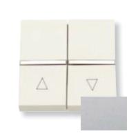 N2244.1 PL NIE Zenit Серебро Выключатель жалюзийный с фиксацией 2 мод