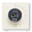 N2253.1 BL NIE Zenit Бел Выключатель с ключом на 3 положения, с фиксацией, 2 мод