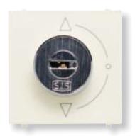 N2253.2 BL NIE Zenit Бел Выключатель с ключом на 2 положения, без фиксации, 2 мод