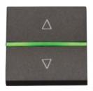 N2261.2 AN NIE Zenit Антрацит Выключатель жалюзийный электронный, 700 ВА, 2 мод
