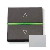 N2261.2 PL NIE Zenit Серебро Выключатель жалюзийный электронный, 700 ВА, 2 мод