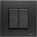 N2202 AN NIE Zenit Антрацит Переключатель 1-клавишный 2 мод