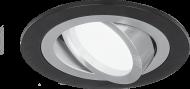 Светильник Gauss Aluminium AL011 Круг. Черный/Хром, Gu5.3 1/50