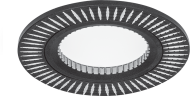Светильник Gauss Aluminium AL014 Круг. Черный/Хром, Gu5.3 1/100