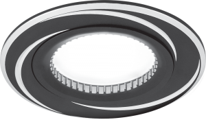Светильник Gauss Aluminium AL016 Круг. Черный/Хром, Gu5.3 1/100