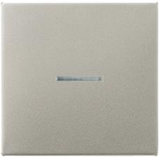 AL1561.07FKO LS 990 АлюминийНакладка светорегулятора/выключателя нажимного с ДУ (радио) с индикацией