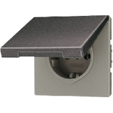 AL2520KLKIAN LS 990 АнтрацитРозетка с/з с защитными шторками с крышкой