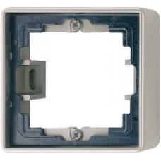 AL2581A-L LS 990 Алюминий Коробка 1-я для накладного монтажас встроенной рамкой и основанием