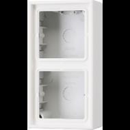 AL2582A-L LS 990 Алюминий Коробка 2-я для накладного монтажас встроенной рамкой и основанием