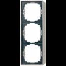 AL2583A-L LS 990 Алюминий Коробка 3-я для накладного монтажас встроенной рамкой и основанием