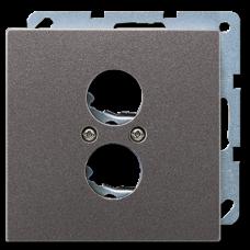 AL2962-2 LS 990 Алюминий Накладка для 2-х акустических гнезд L 2 S (с несущей платой,винтовое крепление)